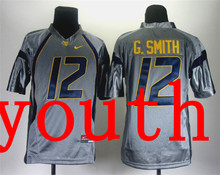 Nike Youth Nike West Virginia Mountaineers Geno Smith 12 Grey College Football Jersey(China (Mainland))