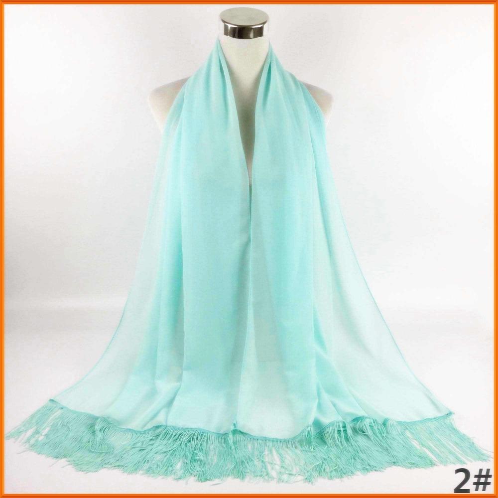 Plain Pearl Bubble Chiffon Shawl Hijab Scarf Abaya Niqab Islamic Muslim Dubai Cheap Scarves with Tassels can67(China (Mainland))