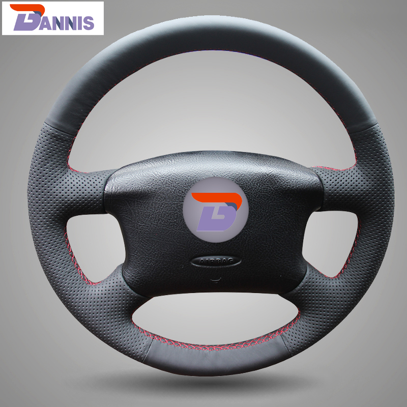 BANNIS Black Artificial Leather DIY Hand-stitched Steering Wheel Cover for Volkswagen Passat B5 VW Passat B5 VW Golf 4(China (Mainland))