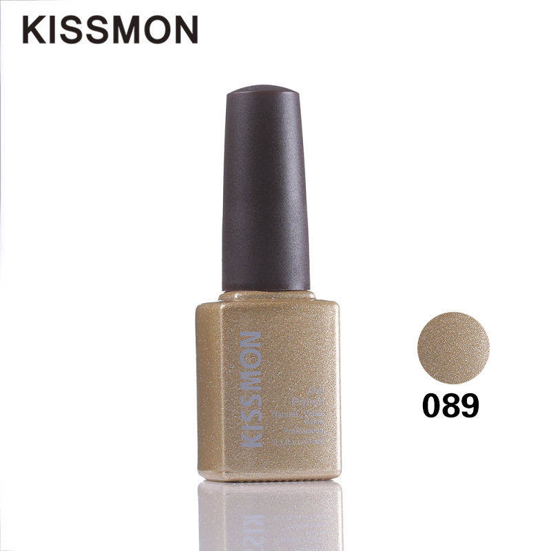 KISSMON 6pcs 13ml 2016 the best sell Popular fashion and easy charm gel products surface coating metal nail gel nail polish #089(China (Mainland))