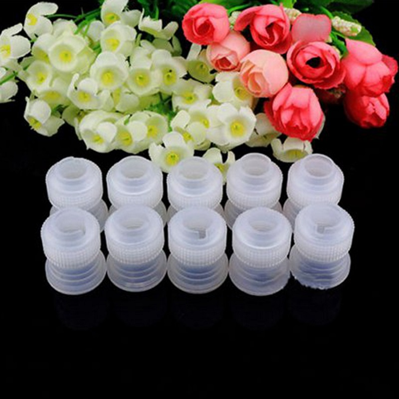 10Pcs Standard Icing Coupler Adaptor Home DIY Cake Decorating Cupcake Icing Nozzle Tips Bags Flower Decor Bakeware Bakery Tools