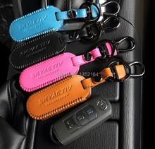 Genual leather key wallet bag,auto holder case Mazda 3 mazda 6 atenza 2014 2015, cx 5 7 cx-9, - Shine Your Car store