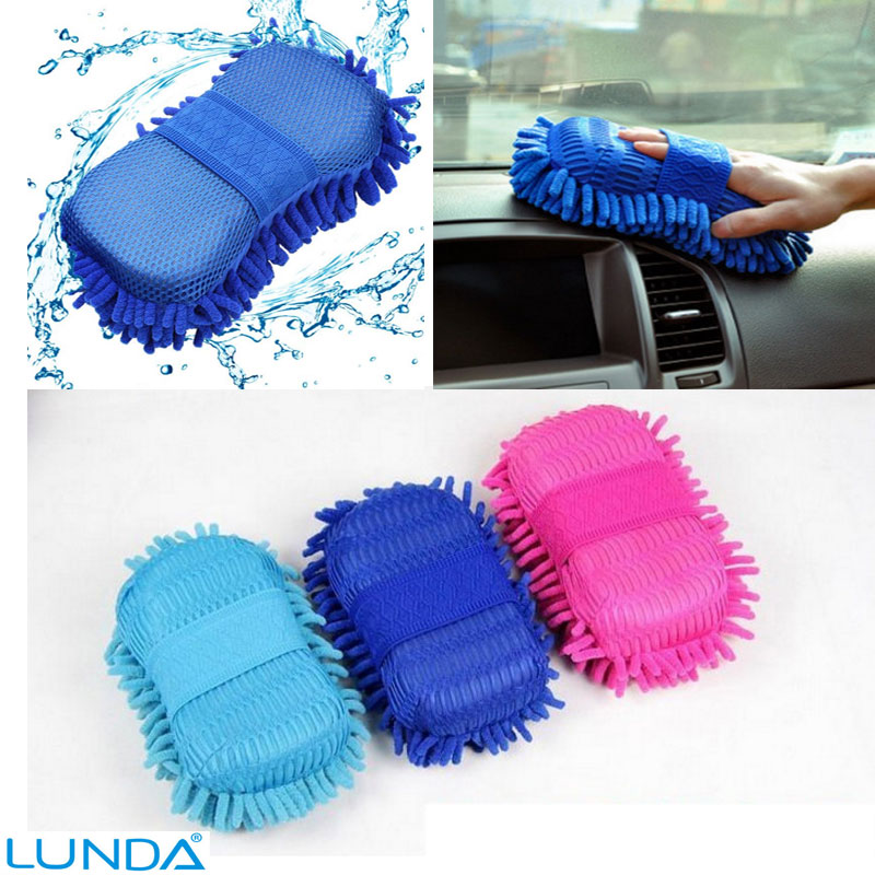 Hot Car wash gloves car cleaning sponge Car Window Cleaning Ultrafine Fiber Chenille Anthozoan Washer Sponge Brush cleaning Tool(China (Mainland))