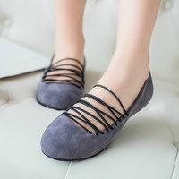 Round Toe Women Casual Shoes Summer Nubuck Elastic Band Breathable Ladies Flats Driving Women Shoes