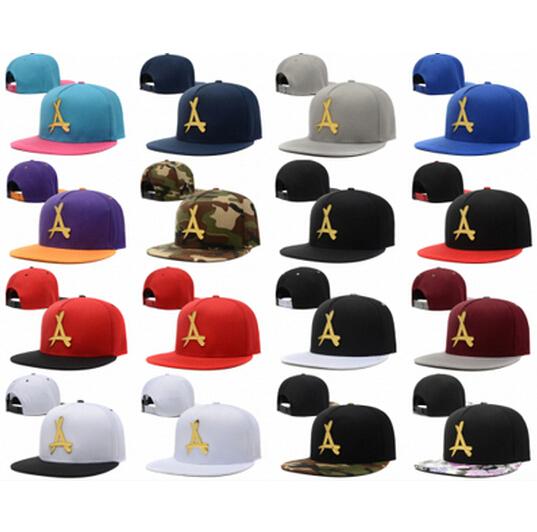2015 Brand New Adjustable Bone tha Alumni Snapback Caps Gold A Hip Hop Sport Hats Baseball Snap back Caps Free Shipping(China (Mainland))