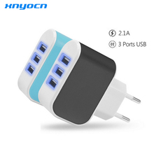 Buy 5V 2A 3 Ports USB Charger Portable Travel Charger Adapter EU Plug Charger iPhone 5 6s Samsung Xiaomi LG Phone Charger for $4.89 in AliExpress store