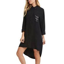 Women letters print long loose shirts turn-down collar long sleeve blouses Blusas Femininas fashion street wear tops LT606(China (Mainland))