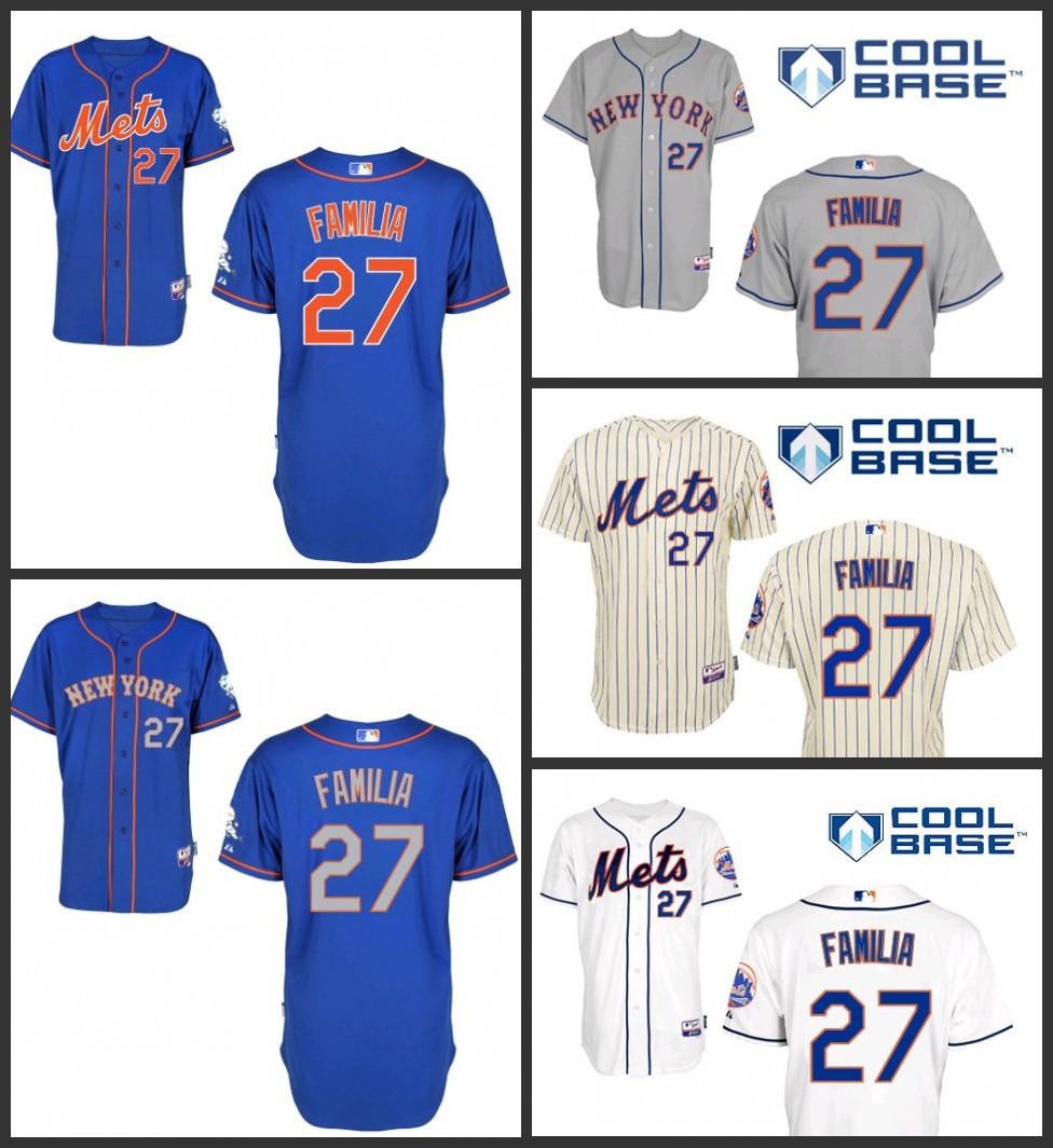 2015 new Men's New York Mets jersey/shirt cheap 27 Jeurys Familia ny mets authentic Baseball Jerseys,Stitched logo, Size: S-3XL - b2c sports jerseys store