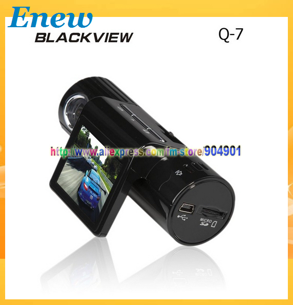 Free shipping by HK POST Car DVR HD Q7 Blackview with 5MP CMOS Sensor + 1280x720 + 140 Degrees Angle + Rotation Lens