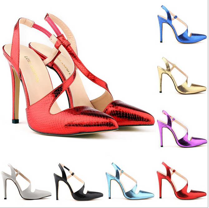 Sapatos Femininos Fashion New Women Pointed High Heels Work Dress Pumps Court Ankle Shoes Sexy Dance Sandals US Size 4-11 w845