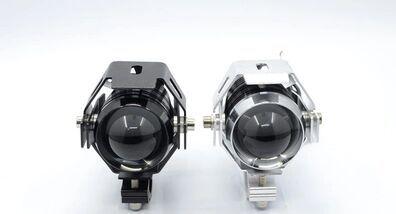 2pcs*Motorcycle headlight lights LED spotlights super bright laser cannon U5 Black(China (Mainland))