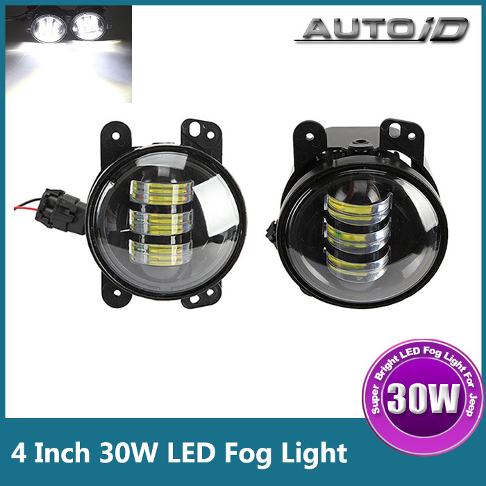 Brand New 4 Inch 30W 1020lm CREE LED Fog Light Bulb DRL Driving Light For Jeep Wrangler SUV<br><br>Aliexpress