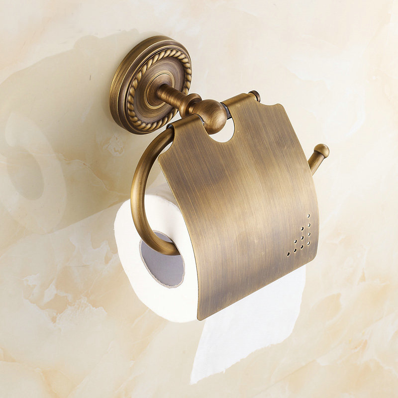 Wall Mounted Paper Holder Antique Brass Finish Bathroom Accessories Hardwares 7002A(China (Mainland))