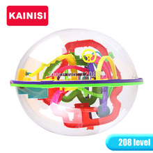 20.5CM 208 Steps 3D puzzle Ball Magic Intellect Ball educational toys Puzzle Balance IQ Logic Ability Game For Children adults(China (Mainland))