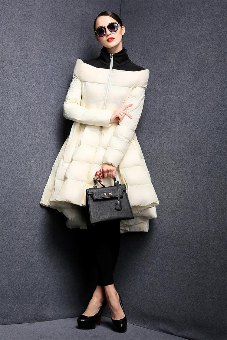 2016 new European waist long big swing skirt jacket 007.jpg slim lightweight jacket jacket