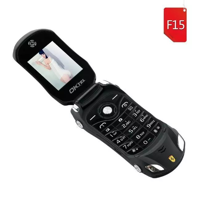 OKTEL F15 Flip Phone With Camera Bluetooth Dual SIM LED Light 1.8 inch Screen Luxury Car Cell Phone(Can Add Russian keyboard)(China (Mainland))