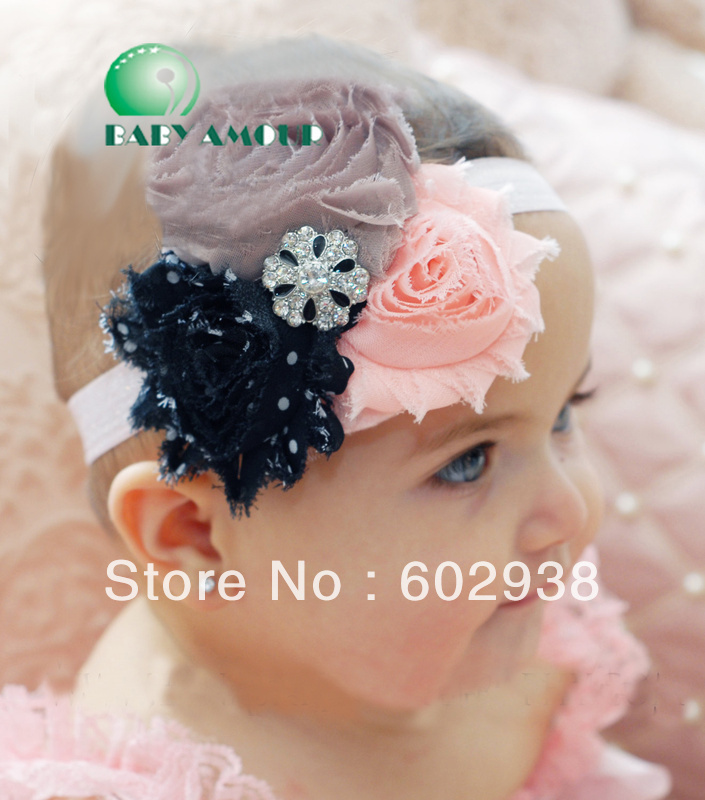 NEW 27 designs 2015 BABY AMOUR flower Bouquet HEADBAND hat cap hair band girls head wrap 1224 B ty(China (Mainland))