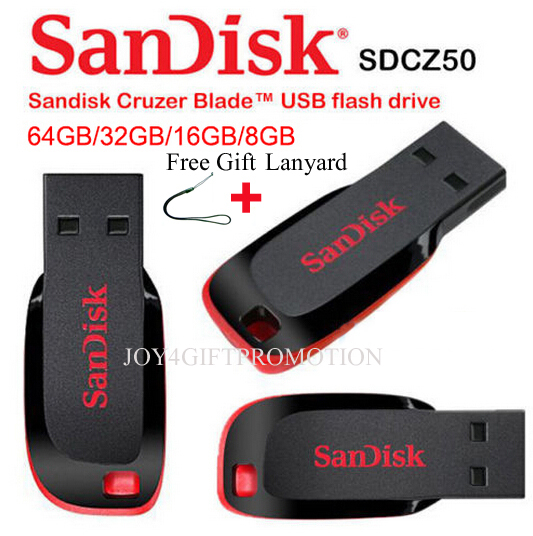 100% Original Genuine Sandisk Cruzer Blade CZ50 USB2.0 usb flash drive 128gb ,64gb,32gb pen drive usb free lanyard Free shipping(China (Mainland))