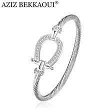 Drop shipping Fashion Silver Rhinestone Wrap Cuff Bracelets Horseshoe Bangles For Women Brand Designer Jewelry Valentine Gift(China (Mainland))