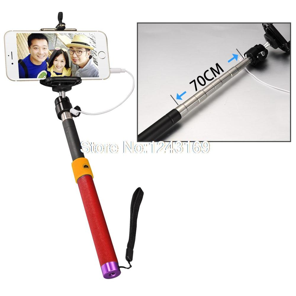 camera mobile phone handheld monopod selfie stick cable take pole for iphone. Black Bedroom Furniture Sets. Home Design Ideas