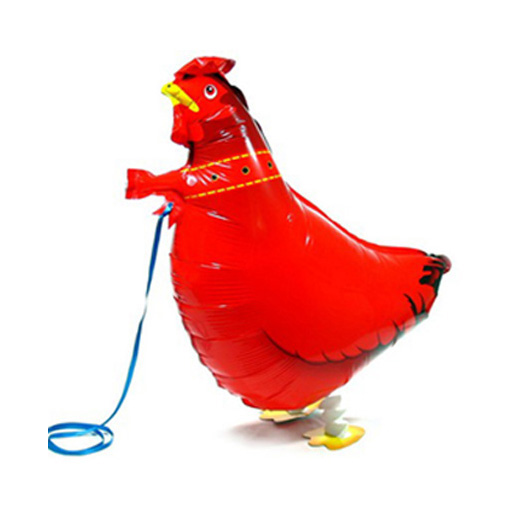 Free Shipping Red Cock walking balloons farm party supplier foil animal balloons for children gift and toy(China (Mainland))