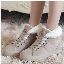 Moda Mujer Caliente de la Piel Del Tobillo Botas Botas de Nieve de Las Mujeres Botas de Invierno Otoño Zapatos de Mujer(China (Mainland))