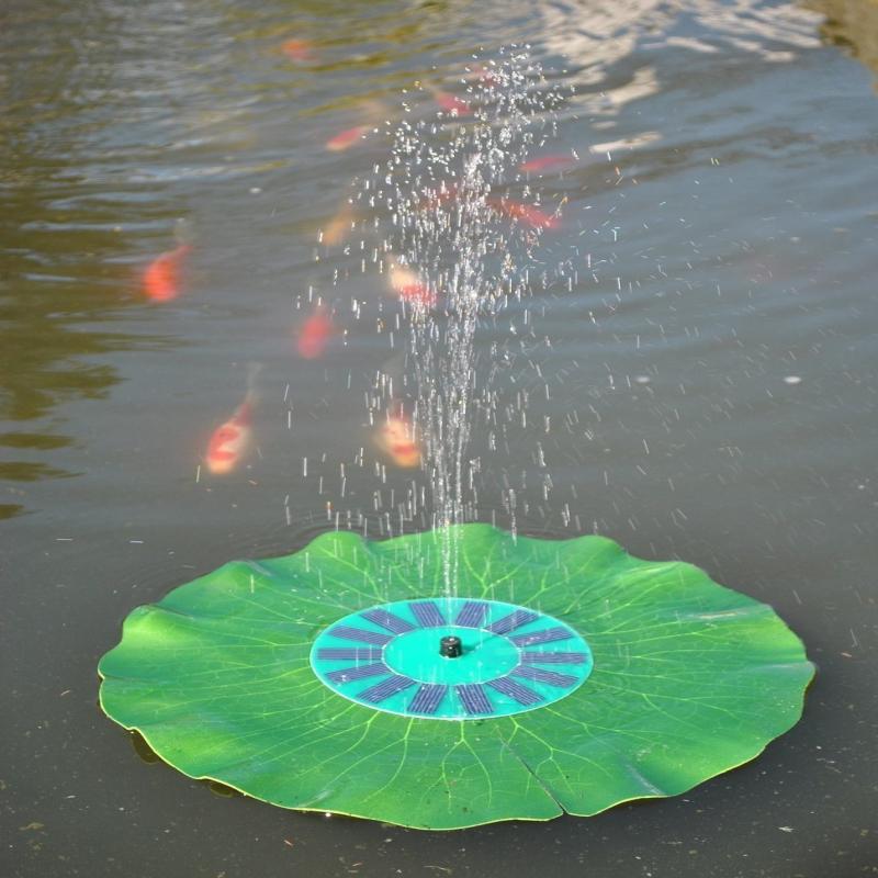 Artificial Hedge Garden Decoration Floating Solar Pump Fountain Pond Watering Kit Pool Lotus Leaf Fish Tank Decoracion Jardin(China (Mainland))