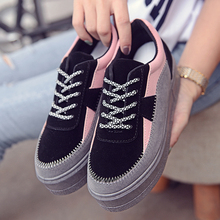 2016 Yeezy Led Shoes Autumn And Winter Korean Version Of 's Casual Sports Shoes Loose Cake Thick Bottom Fashion Women' S Sho(China (Mainland))