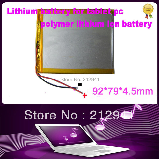3.7V 5000mAH Li-ion( Polymer lithiumion) battery for 7 8 or 9 inch tablet PC ICOO D70pro II,Onda,Sanei 4.5*79*92mm Free Shipping