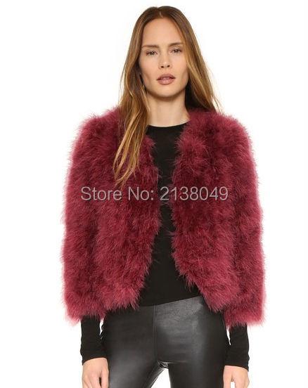 Fc01301 мода V шеи много цветов пушистый турция меховые куртки перо куртки