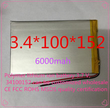 Полимер литиево-ионная аккумулятор 3,7 v, 34100152 жестяная банка быть согласно требованиям клиента CE FCC ROHS сертификацией обращению