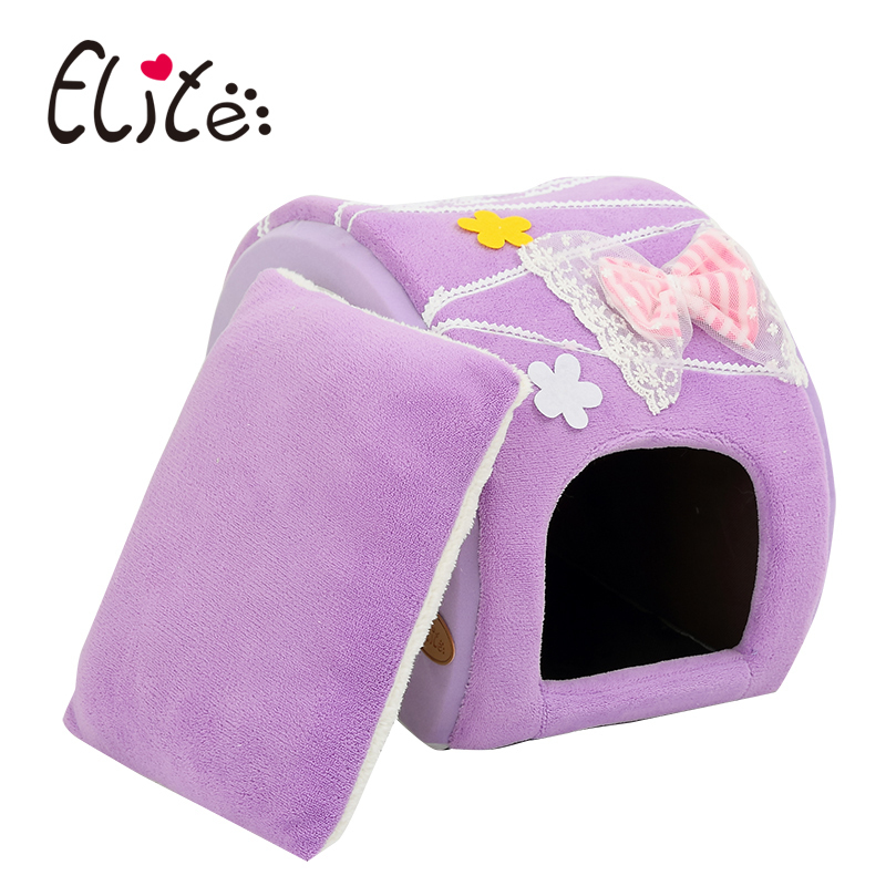 Brand elite Cute puppy house Pet bed for puppy cat Cake shape Candy colors dog bed puppy cave nest(China (Mainland))
