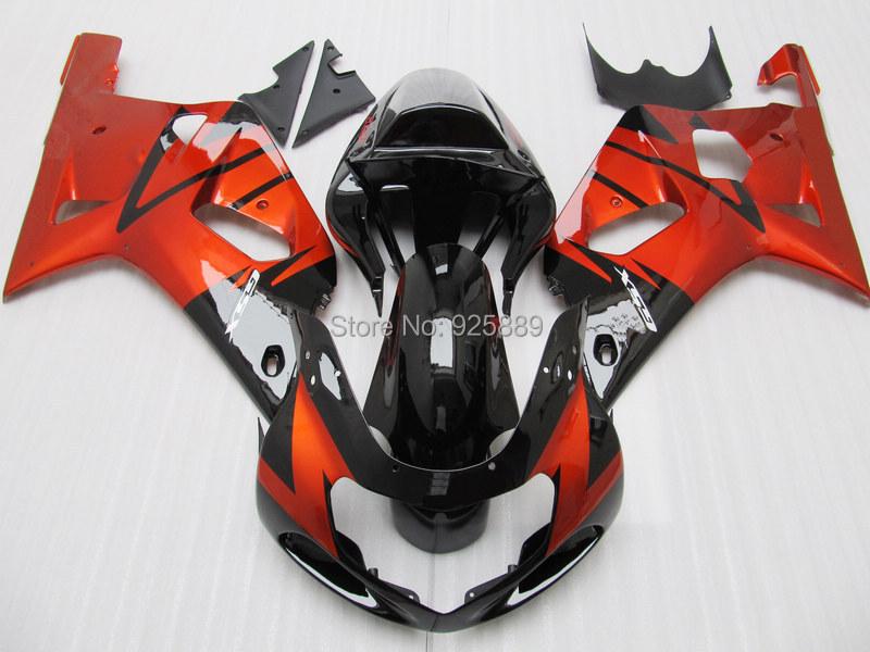 Injection Orange Black Fairing SUZUKI 2001 2003 GSXR600 750 01 02 03 GSXR750 K1 GSXR 600 Fairings kit - DAKE store