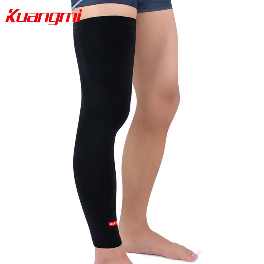 Kuangmi Ultra-thin Cycling Leg Sleeve Basketball Leg Warmer Compression Leg Knee Long Sleeve Guard Football Golf Sunscreen 1PC(China (Mainland))
