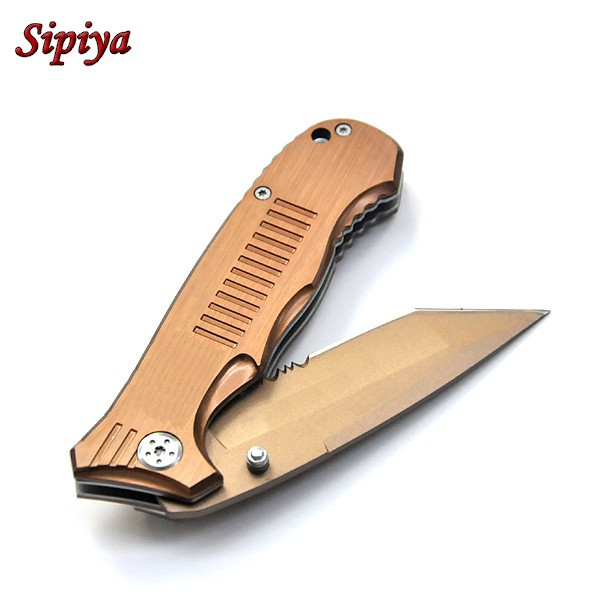 Buy High quality! Stainless steel Handle folding hunting knife camping pocket knife tactical knifes outdoor survival tool cheap