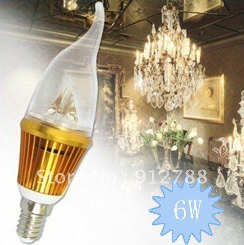 led candle light ,E14 3*2W 6W Dimmable/Non-Dimmable Candle , Led Lamp Gold and Siliver Colour,10pcs/lot,free shipping<br><br>Aliexpress