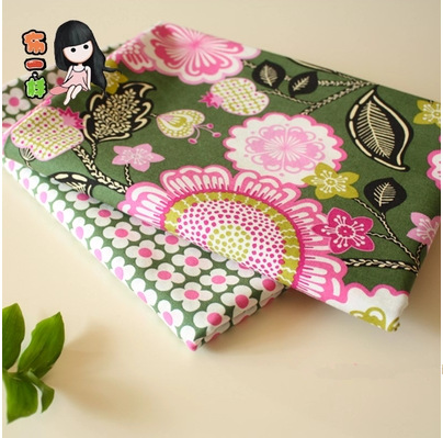 2015 new cotton plain weave fabric vb 2pcs 150 * 50cm Green Series Patchwork cotton patchwork fabric for sewing Tilda Cloth(China (Mainland))
