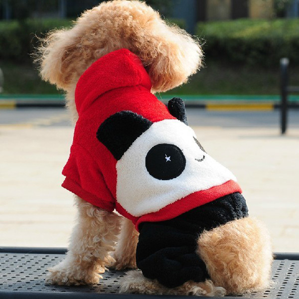 Fashion Lovely Pet Panda Costumes Dogs Soft Fleece Clothes Warm Jumpsuit Winter Hoodie H1(China (Mainland))