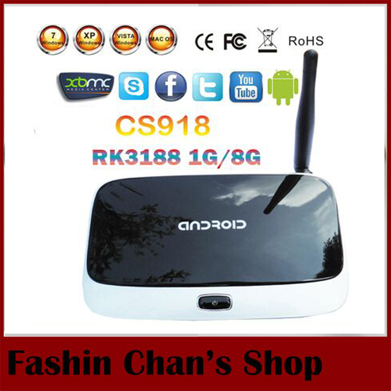 android 4.4.2 tv set top box Q7 CS918 Full HD 1080P RK3188T Quad Core Media Player 1GB/8GB XBMC Wifi Antenna w/ Remote Control(China (Mainland))