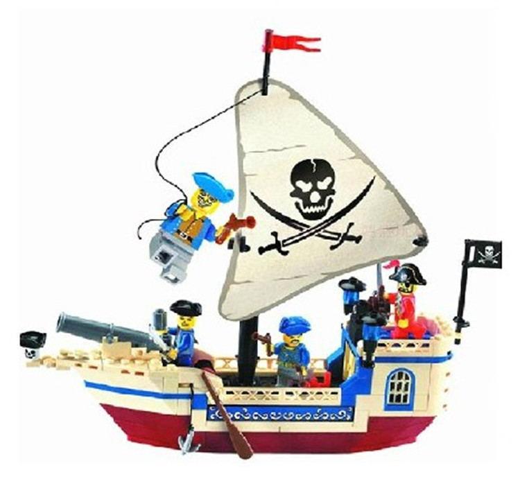 No 304 Pirates SeriesEnlighten Building Block Set 3D Construction Brick Toys Educational Block toys Compatible with LEGO