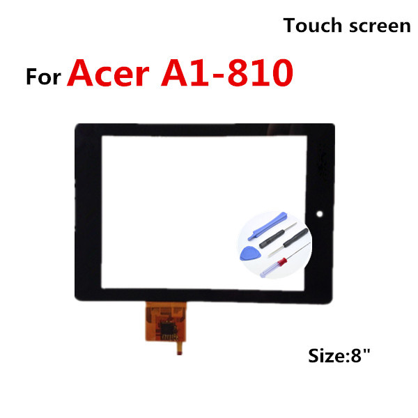 Original B080XAT01.1 For Acer iconia tab A1-810 811 LCD Display Touch Screen Digitizer placement A1-810 A1 810 TOUCH SCREEN+Tool(China (Mainland))