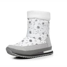 Mujeres botas de invierno 2017 nuevas mujeres de la nieve botas impermeables zapatos calientes espesan antideslizante botas 04(China (Mainland))