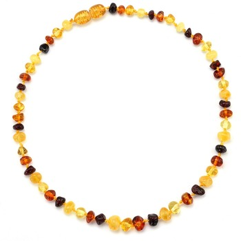 CICI'S STORY Baltic Amber Teething Necklace for Baby (Unisex) - Natural Anti Inflammatory Beads-Teething Pain Reduce Properties