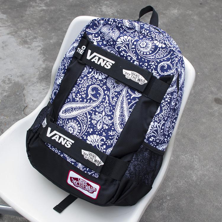 VANS totem black and white shoulder bag HIPHOP skateboard bag backpack schoolbag bag ROCK(China (Mainland))