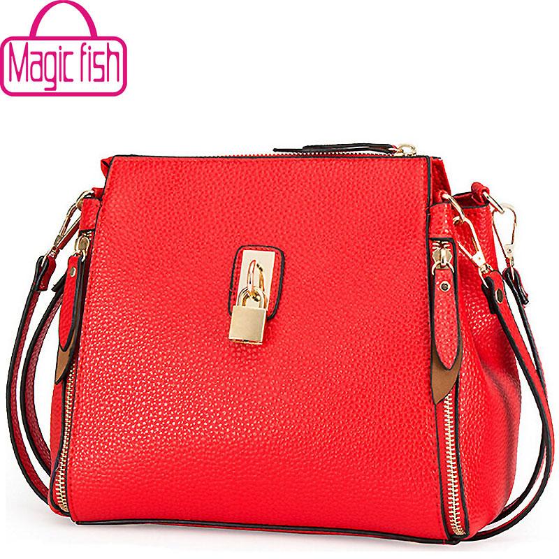 Magic fish! 2016 women bags women messenger bags cross body designer leather handbag famous brands shoulder bag bolsos LS8509mf(China (Mainland))