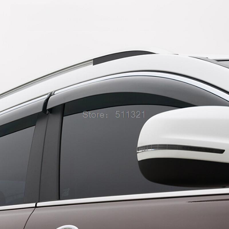 Fit For Jeep Cherokee 2014 2015 Car Wind Deflector Visor Rain Sun Protector Guard Vent Window Visors 4PCS/SET Awnings Shelters<br><br>Aliexpress