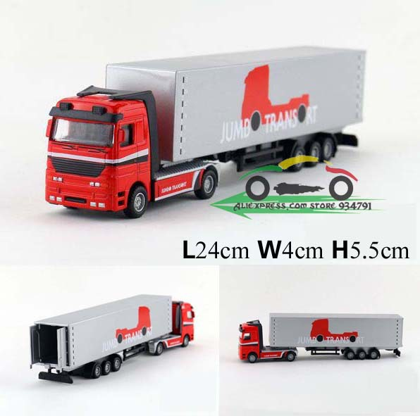 1:50 container transport vehicle container truck traile Box Kids Toys Car Alloy Car Model Engineering Vehicles Free Shipping(China (Mainland))