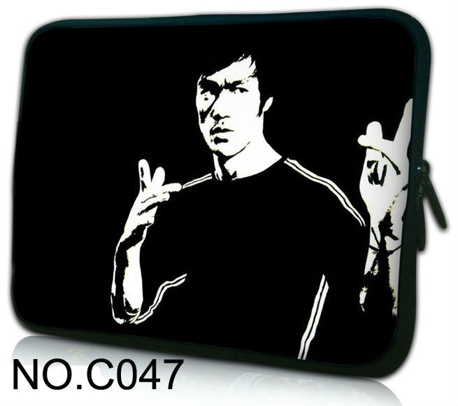 """Bruce Lee 10"""" Laptop Bag Sleeve Case Pouch For Samsung Galaxy Tab / iPad 1,2,3,4 New / 10.1"""" HP Mini 110 210 / Dell Mini 10(China (Mainland))"""