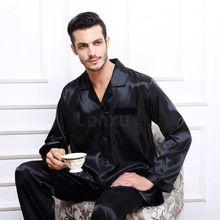 Mens Silk Satin Pajamas Set Pajama Pyjamas PJS Sleepwear Set  Loungewear  S,M,L,XL,2XL,3XL,4XL__Perfect  Gifts(China (Mainland))