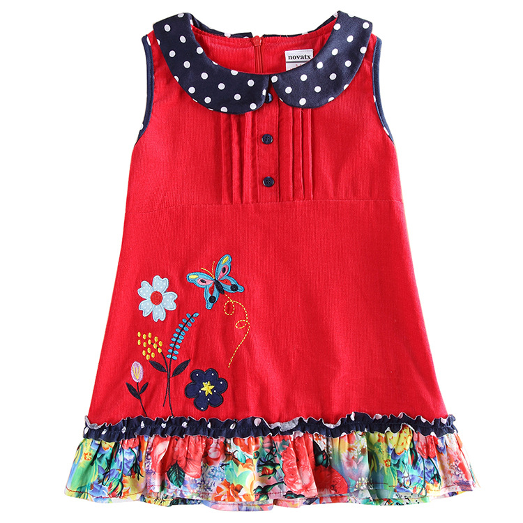 summer toddler dresses for girlsfashion red baby girls